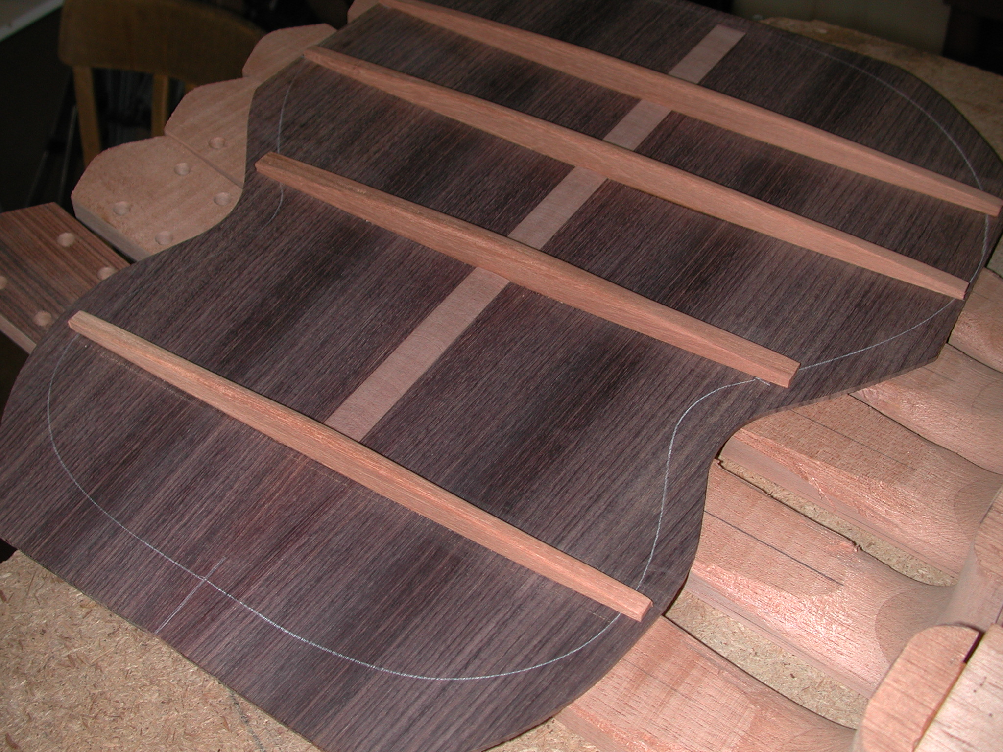 Back: The bracing on the back is finished.