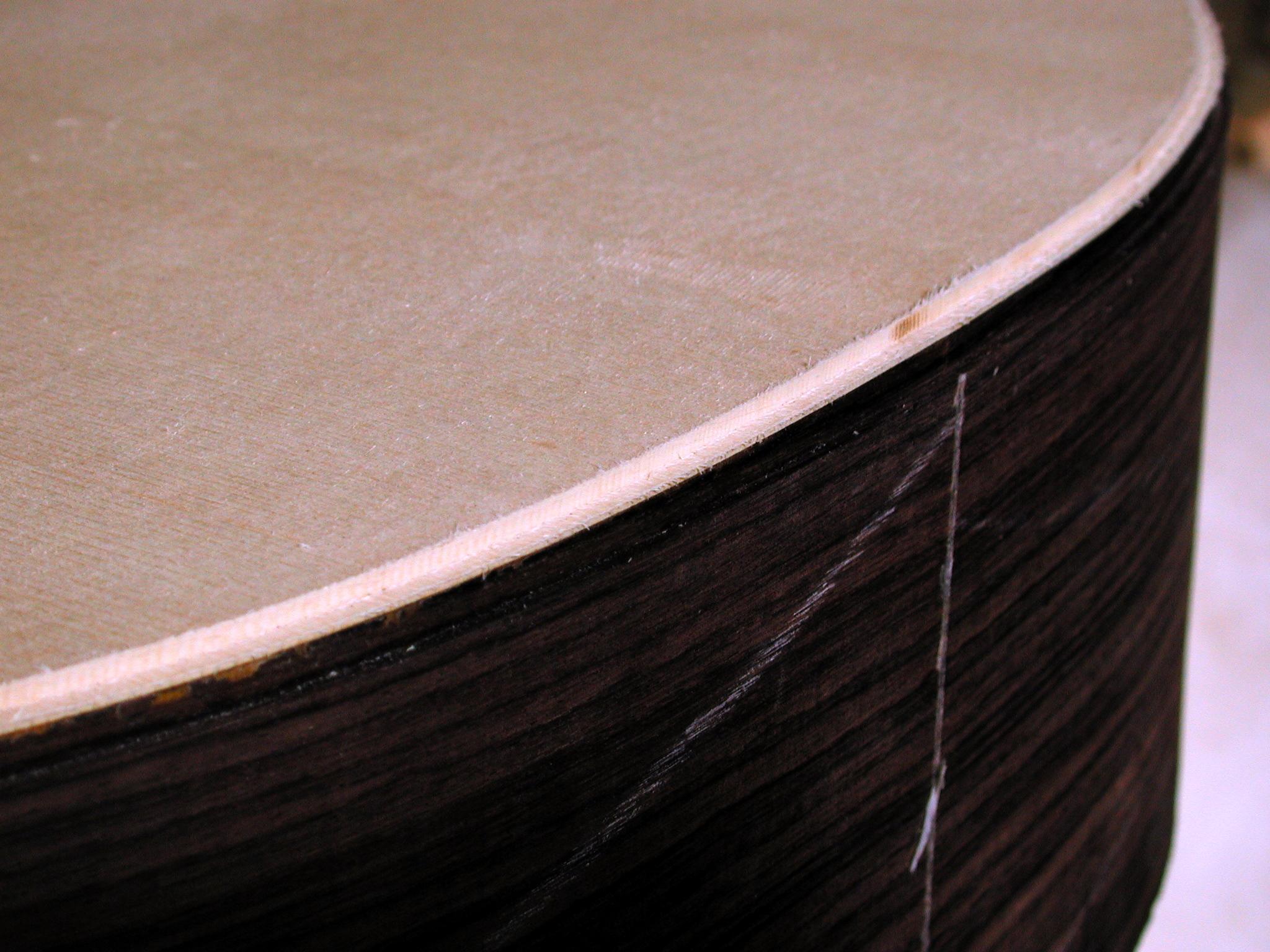 Bindings: The ledge for the binding has been cut.