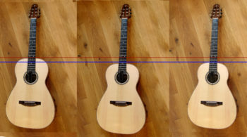 photo montage move body neck transition from 12-fret to 14-fret