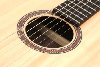 12 fret acoustic guitar rosewood mahogany rosette 63 scale butternought stoll luthier