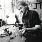 1988: Christian Stoll in his new workshop Aarstr. 268, Taunusstein-Wehen.