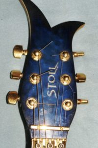 1993: The head of the custom built midi-guitar