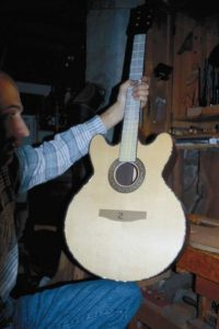 2000: Lucy, Custom Order with double cutaway...