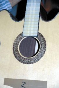 2000: Lucy ...and custom made soundhole rosette