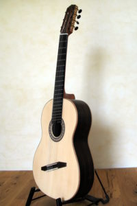 7 String Classical Guitar with Fanned Frets