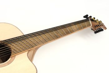 8 string 5 steel 3 bass fanned frets bevel local woods