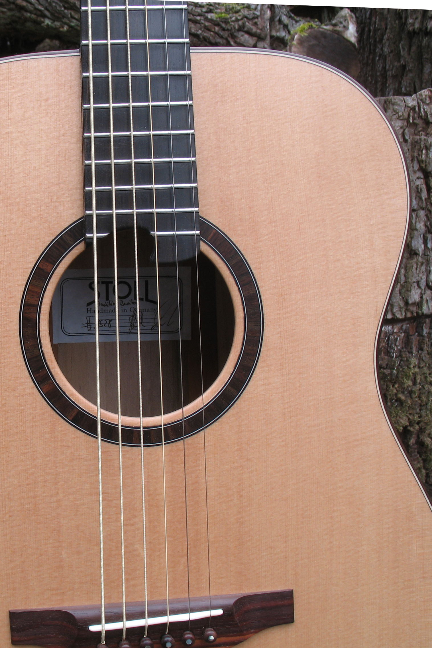 Steelstring Guitar Ambition Bariton - Walnut with side soundport - rosette