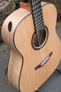 Steelstring Guitar Ambition Bariton - Walnut with side soundport - side with soundhole