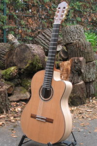 Classic Line I back and sides walnut, cedar top, cutaway 21 frets