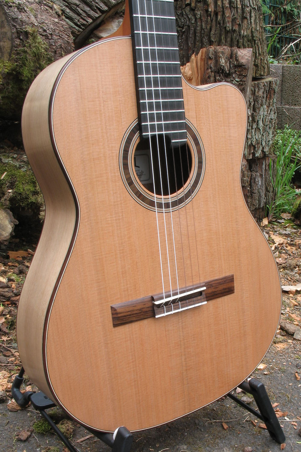 Classical Guitar With Walnut Body Cedar Top Cutaway And 21 Frets Fret Gitar Jumbo Classic Line I Back Sides