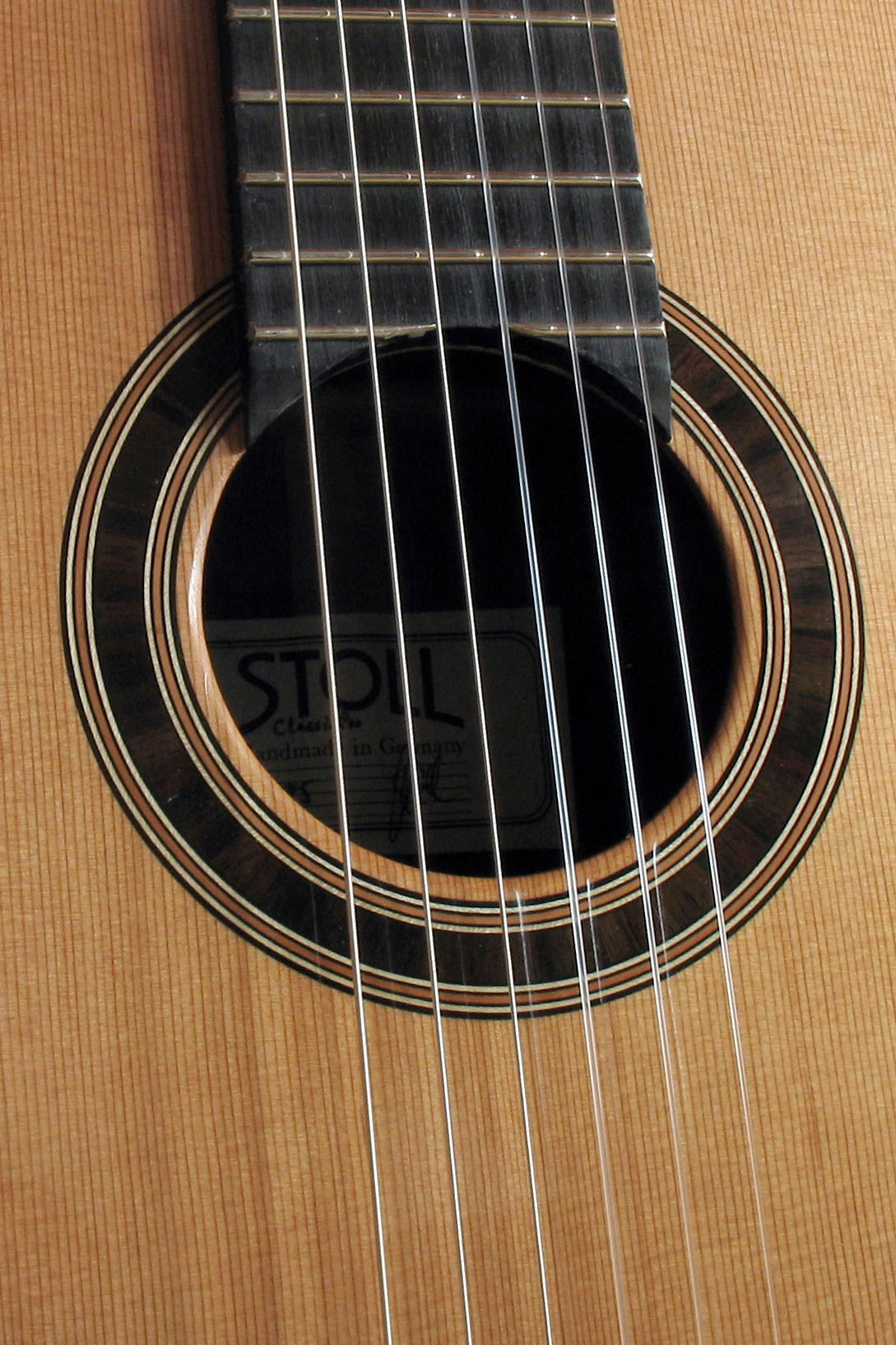 Nylonstring Guitar Classic Line Proscale length 63 cm with wide neck Rosette