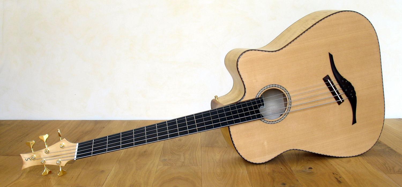 semi fretless iq acoustic bass 5 string stoll guitars. Black Bedroom Furniture Sets. Home Design Ideas