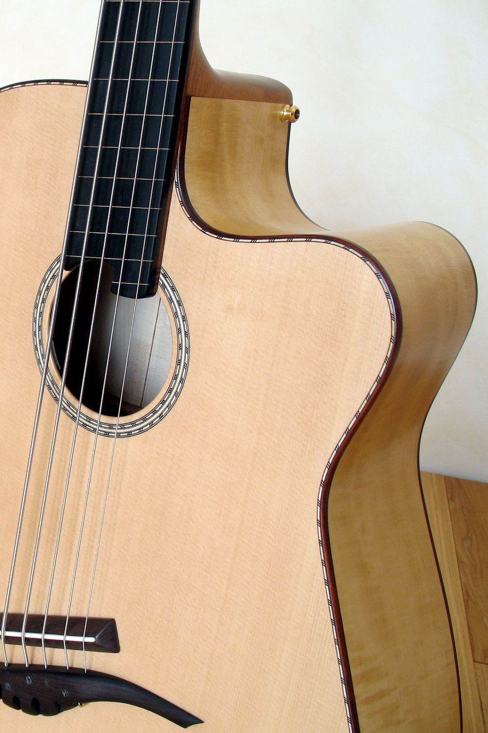 semi fretless iq acoustic bass 5 string stoll guitars. Black Bedroom Furniture Sets. Home Design Ideas