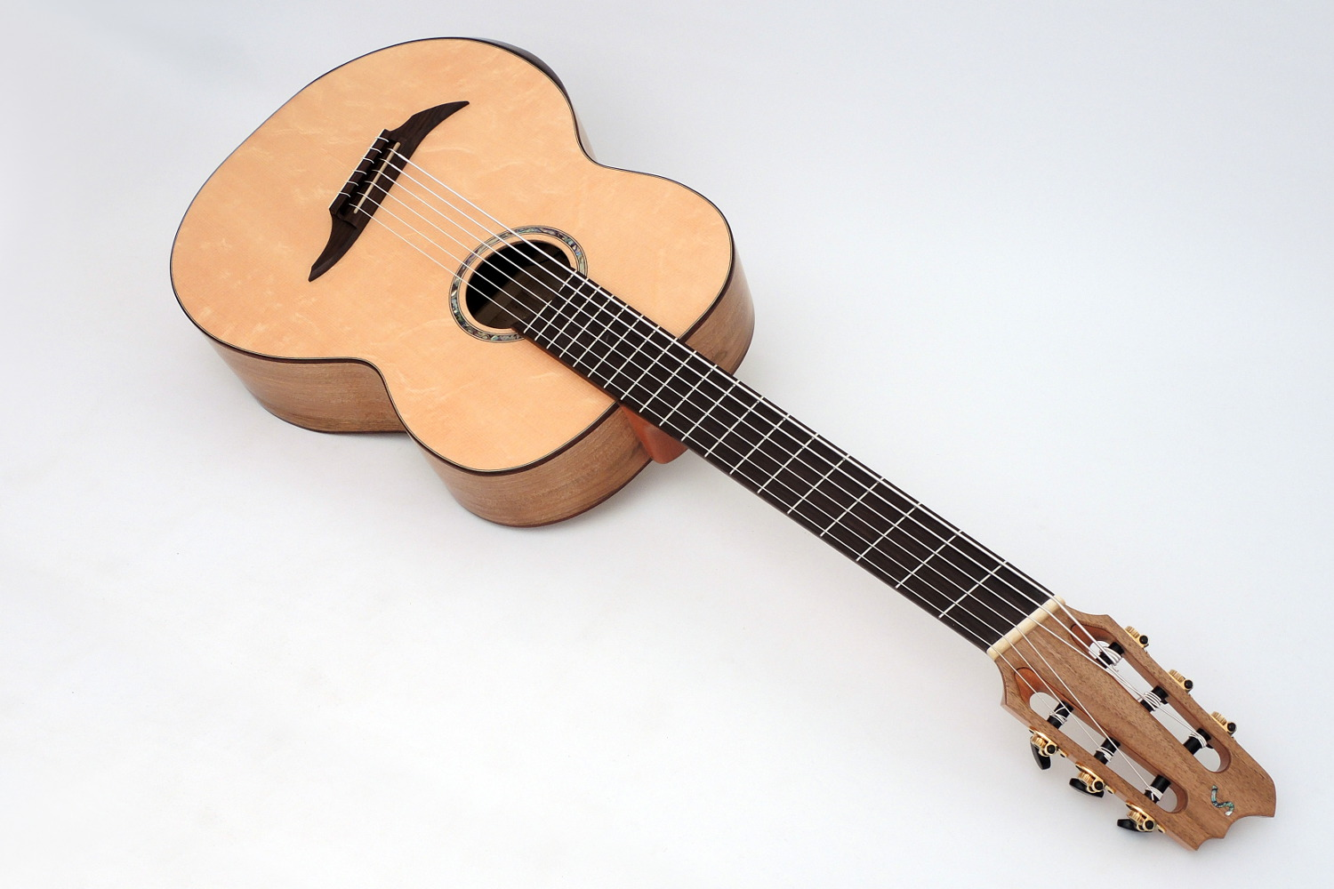 Acoustic Bass Classic 6 String Fanned Frets Bevel