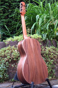 Parlor steelstring guitar- american walnut - back