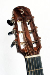 Parlor steelstring guitar- american walnut - head