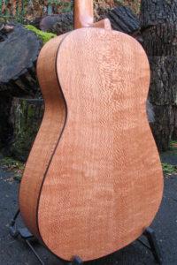 Steelstring Guitar Ambition Parlour Silver Oak - Back