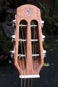 Steelstring Guitar Ambition Parlour Silver Oak - Head