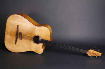 Acoustic bass fretless huge loud luthier christian stoll