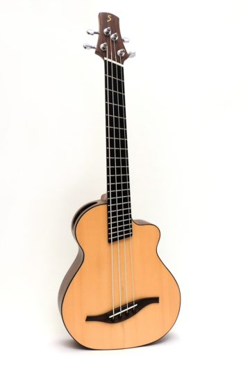 acoustic bass ukulele fanned frets multi scale side sound port pickup