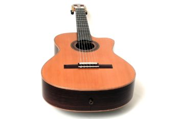 small classical guitar cutaway pickup modern styles luthier christian stoll