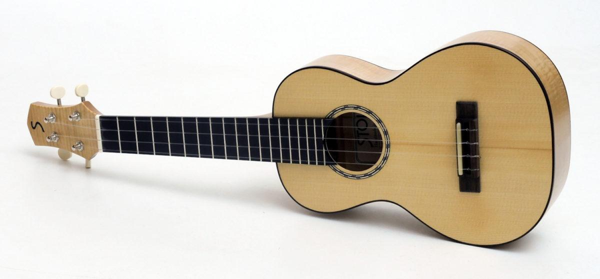maple spruce soloist concert ukulele professional luthier