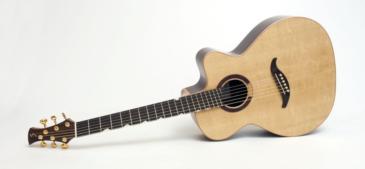 Mini jumbo rosewood multi scale fanned frets cutaway
