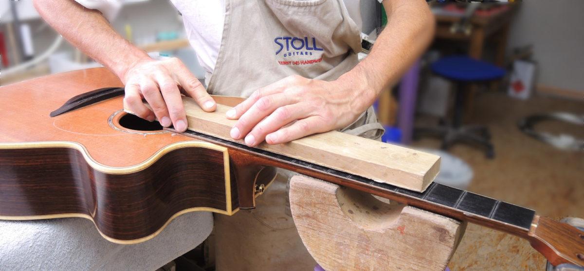 re-fretting acoustic guitar repair luthier