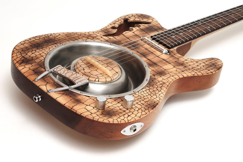 resonator telecaster electric guitar crocodile resodile bastian ortner blues bones