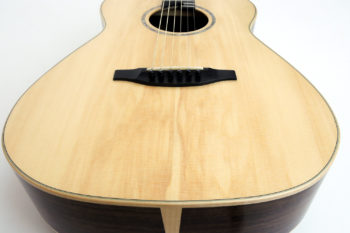 Review fingerstyle guitar lutz spruce 13-fret transition luthier stoll