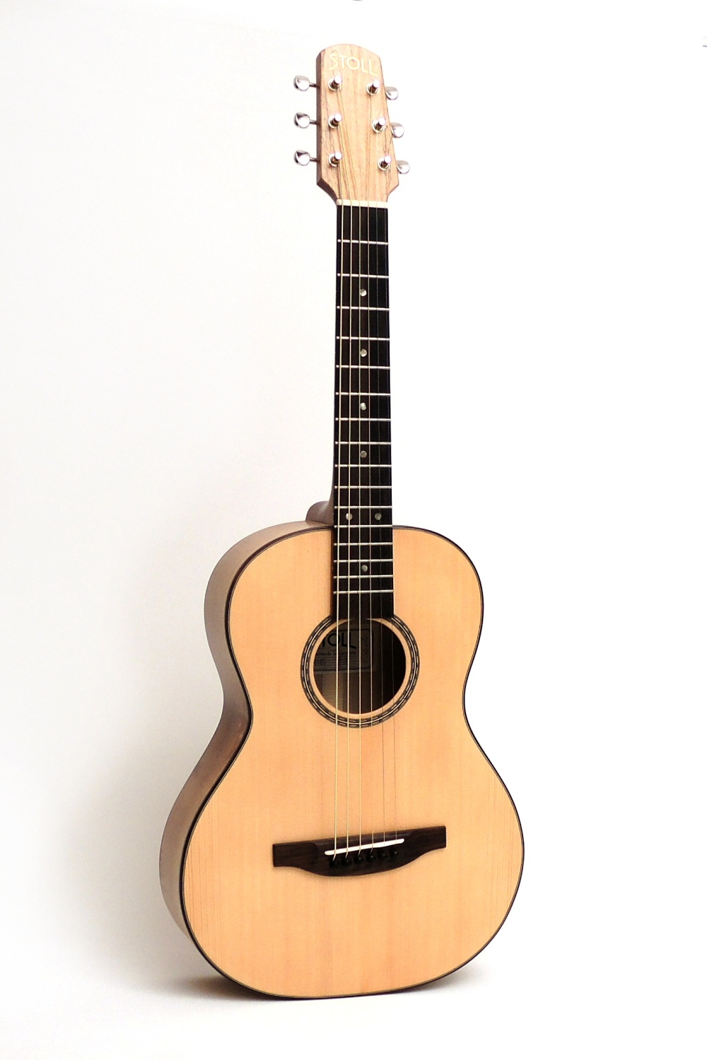 travel steel string acoustic guitar walnut stoll