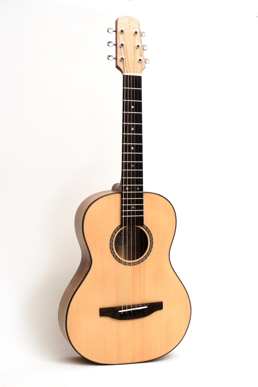 travel steel string acoustic guitar walnut stoll