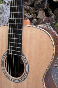 Steel String Guitar Fingerstyle Scale Length 63 Body American Walnut Top Sitka Sinker Wood