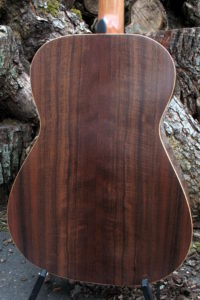 Steel String Guitar Fingerstyle Scale Length 63 Body American Walnut - Back