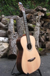 Steel String Guitar Fingerstyle Scale Length 63 Body American Walnut Top Sitka Sinker Wood