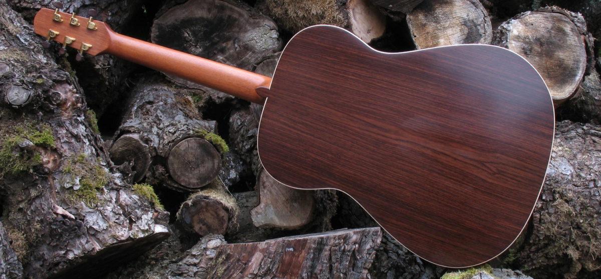 Steel String Guitar Indian Rosewood - Back