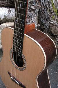 Steel String Guitar Indian Rosewood - Upper Bout