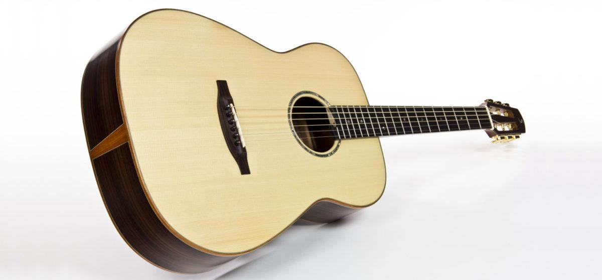 steel string fingerstyle guitar cutaway