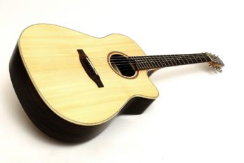 steel string acoustic guitar cutaway luthier stoll