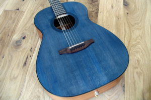 steel string guitar scale length 63 13th fret transition blue top