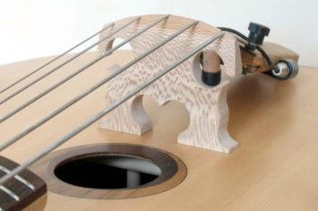 Bowable fretted 5-string Acoustic Bass bridge