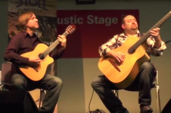 Just Friends Smoke on thewater Acoustic Bass Nylon String Guitar