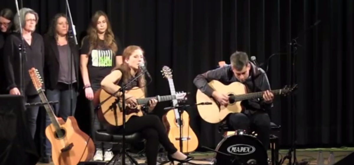 Video: Bariton Steel String Guitar Fan Frets, Side Sound Port, Bevel