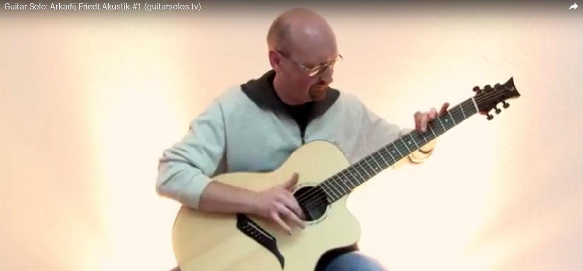 video steel string guitar IQ fanned frets - arkadij friedt