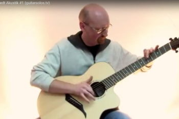 video steel string guitar IQ fanned frets - arkadij friedt