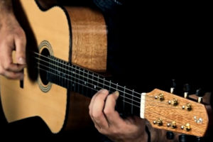 video steel string guitar ambition silver oak